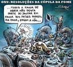 Charge de 7 DE JUNHO DE 2008 <br/> <br/> De Simon Taylor para o Charge Online - ONU - Resolu��es da c�pula da fome - &quot;uma pequena parte para os que precisam... &quot; <br/> <br/> Palavras-chave: ONU, fome, desigualdade social, entidades internacionais, globaliza��o, pol�ticas contra a fome.
