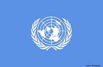 Logo da bandeira da Organiza��o das Na��es Unidas - ONU. <br/> <br/> Palavras-chave:poder, pol�tica, ideologia, onu, na��es unidas.