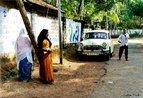 Indianos da regi�o de Kerala varkala - detalhe da foice e martelo desenhado no muro.  <br/> <br/> Palavras-chave: direito, cidadania, pol�tica, ideologia, classes sociais.
