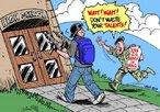 Um garoto armado que est� prestes a entrar em uma escola � abordado por um militar norte americano que est� recrutando jovens para a guerra. Cr�tica � guerra tendo como base os acontecimentos relacionados aos jovens suicidas em escolas norte americanas. <br/> &quot;Espere! Espere! N�o desperdice seus talentos!&quot; <br/> <br/> Palavras-chave: poder, pol�tica, ideologia, cultura da viol�ncia, juventude, guerra, EUA.