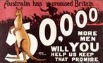 &quot;A Austr�lia prometeu para a Gr�-Bretanha 50.000 soldados&quot; &quot;Voc� nos ajudar� a cumprir a promessa&quot; <br/> <br/> Palavras-chave: imperialismo, poder, ideologia, guerra mundial, m�dia, coer��o, manipula��o midi�tica, analfabetismo midi�tico.