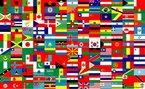 Montagem contendo imagem de v�rias bandeiras de diversos pa�ses do mundo. <br/> <br/> Palavras-chave: sociedade global, povos, pa�ses, rela��es internacionais.