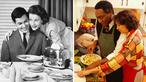 Imagem com o perfil da divisão ideal das tarefas domésticas ontem e hoje. </br><br/> Palavras-chave: Tarefas. Doméstica. Homem. Lar.