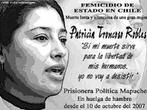 """Cartaz sobre fim de greve de Fome - Patricia Troncoso encerrou sua greve de fome (2/2/08) após receber documentos oficiais do Governo chileno se comprometendo a cumprir suas exigências. <br/> <br/> Patricia Troncoso, conhecida por """"la Chepa"""", é ativista pelos direitos dos Mapuches no Chile e uma das/os presas/os políticas/os que, após ataques do 11 de Setembro, foram classificados como """"terroristas"""" na lei de segurança nacional. <br/> <br/> Os mapuches vem lutando pela retomada de terras, contra a lei anti terrorista e pela desmilitarização das comunidades VIII e IX. Em 2003 o jovem Alex Lemun, de 17 anos, foi assassinado em Temuko e no dia 03/01, neste ano de 2008, Matías Catrileo, de 20 anos, também foi assassinado por policiais. <br/> <br/> Palavras-chave: lei anti terrorista, mapuche, chile, movimento social, direito, cidadania, greve, fome."""