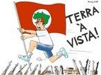 Charge Xalberto - Terra a Vista <br/> <br/> Palavras-chave: direito, cidadania, movimentos sociais, MST, latifúndio, arte, engajamento social.